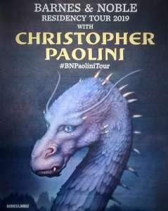Saphira Banner for Christopher Paolini's B & N Tour