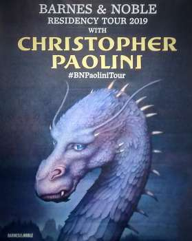 Saphira Banner for Christopher Paolini's B & N Tour