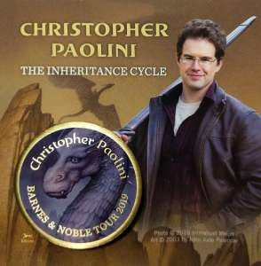 B & N Inheritance Pin for Christopher Paolini signing