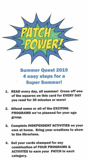 Kids' Patch Summer Reading Program
