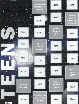 Teen Summer Reading Gameboard