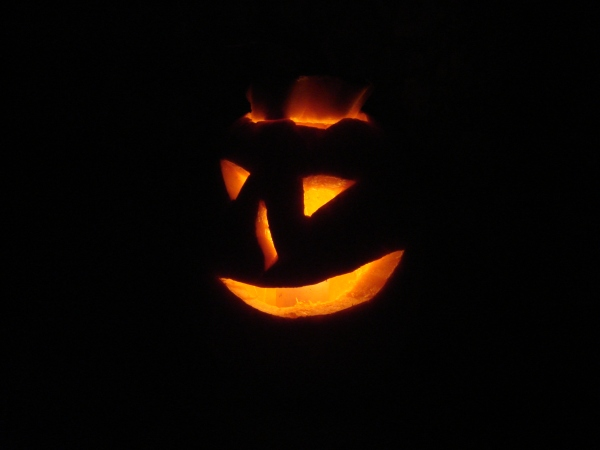 Jack o Lantern glowing from within