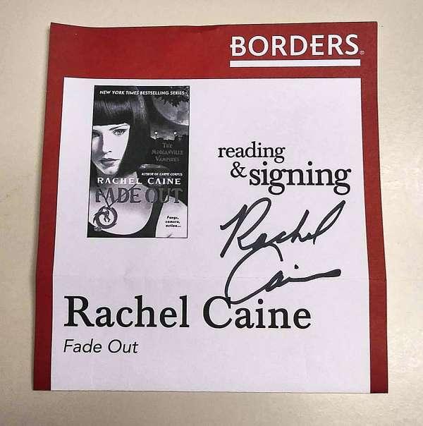 Flyer Autographed by Rachel Caine